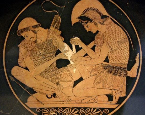 Sosia, Achille cura Patroclo ferito